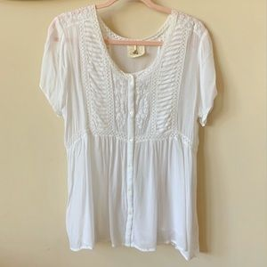 Anthropologie One fine day embroidered blouse #884
